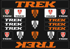 Trek Mountain  Bicycle Frame Decals Stickers Graphic Adhesive Set Vinyl Orange