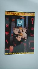 Depeche Mode black celebration vintage music postcard POST CARD