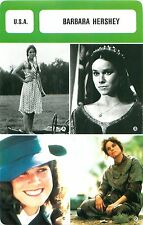 Barbara Hershey USA  ACTRICE ACTRESS FICHE CINEMA