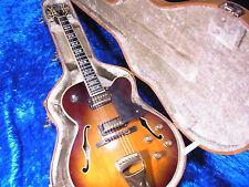 Vintage 1979 GRECO SW1200 sw-1200 Semi Acoustic Sunburst Guitar w/case 7/7