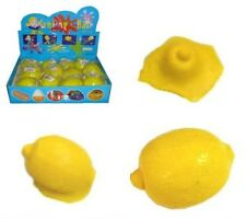 2 FUNNY SPLAT LEMON TOYS squishy lemons balls splatting toy classic items NV873