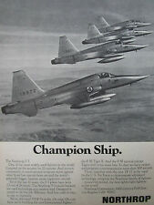 3-6/1974 PUB NORTHROP F-5 FIGHTER NORWAY NORWEGIAN AIR FORCE ORIGINAL AD