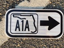 """Florida A1A Road Sign - 12""""x6""""  - UNUSED DOT sign - traffic highway road"""