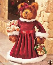 """17"""" Poseable Standing Mrs. Claus Bear Christmas Decoration"""