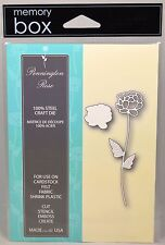 """FREE SHIPPING"" Memory Box PENNINGTON ROSE Die 99143 Card Making Craft Emboss"