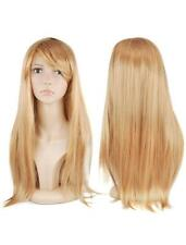 Golden Blonde Hair Wig  Long Straight Artificial Costume Womans Fancy Dress