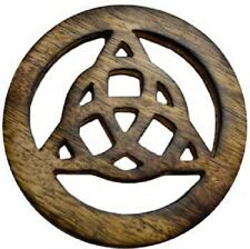 Triquetra Wood Altar Tile Wiccan Pagan Altar Supply
