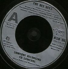 """BEE GEES someone belonging to someonei love you too much RSO 96 uk 7"""" WS EX/"""
