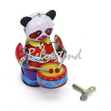 Classic Wind Up Panda Drummer Mechanical Toy Kid Child Birthday Party Favor