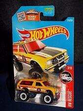 Hot Wheels Diecast Rescue Series Chevy Blazer 4x4 Yellow w/ White BLs
