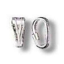 50 pièces PLATINA argentées printemps parachute pour pendentifs-a5647