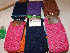 18 pcs Girls Baby Crochet Headband With 6 inch Acrylic