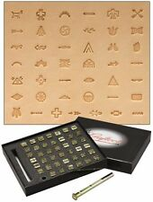 NATIVE AMERICAN SYMBOL LEATHER STAMPING SET (43 stamps plus handle) by TANDY