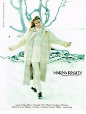PUBLICITE ADVERTISING 074  1998  MARINA RINALDI mode hiver manteau pull