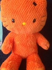 "BUILD A BEAR LTD EDITION HALLOWEEN -HELLO KITTY -19"" ORANGE PLUSH SOFT TOY -2010"
