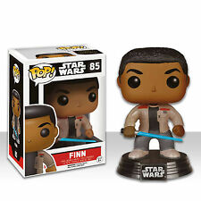 "STAR WARS ESCLUSIVO FINN + SPADA LASER 3.75"" VINILE POP FIGURE BOBBLE-HEAD"