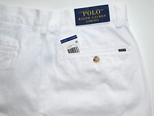NWT Men's Polo Ralph Lauren Casual Shorts, Classic Fit, White Sz. 33