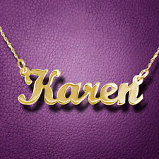 Solid 14k Gold Name Necklace, child size, nameplate neckless, monogram necklace