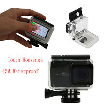 PP Waterproof Case w/ Touch Screen Housing Diving 45M For Xiaomi Yi 2 4K Camera