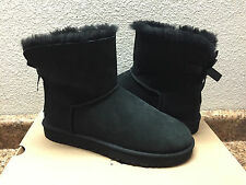 UGG CLASSIC MINI BAILEY BOW BLACK BOOT US 5 / EU 36 / UK 3.5 - NEW