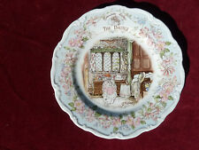 "Royal Doulton Brambly Hedge Plate  The Dairy  8 1/4"" Perfect Condition"