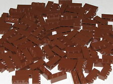 Lego Lot of 100 New Reddish Brown Bricks 1 x 3 Blocks Pieces