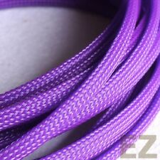 6mm x 5m PURPLE Expandable Braided Cable Sleeving High Density PC RC Modding