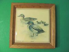 Art Tile Duck Stream NYC A-3114. Framed. Ceramic.