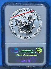 2006P 20TH ANNIVERSARY SILVER EAGLE, NGC REVERSE PF70 WITH DIE ROTATION ERROR