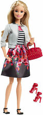 Mattel Barbie Style edition doll floral skirt, eyelashes, posable, NEW 2016