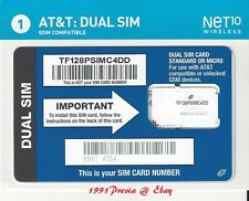 NET10 DUAL MICRO + MINI SIM CARD AT&T Compatible ( BRING YOUR OWN PHONE )