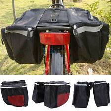 600D Waterproof Cycling Bicycle Rack Back Rear Seat Storage Bag Double Pannier