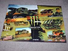 Monster Energy Drinks Trophy Trucks 2 Sided Poster Robby Gordon Alan Pfuegler
