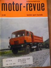 Tschechoslowakische MOTOR REVUE Nr. 5- 1983 Tatra 815 Eisspeedway-WM Babetta 210
