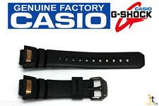 CASIO GS-1050B-5 G-Shock Original 16mm Black Rubber Watch BAND Strap Copper Tone