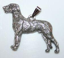 IRISH WOLFHOUND Dog Harris Fine Pewter Pendant USA Made