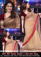 veeraa Bollywood Designer Party wear Red & Beige Color Net Fabric Saree