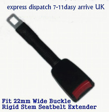 Seat Belt Extender Extension Rigid Stem Flexible for 22mm wide buckle Add 24cm
