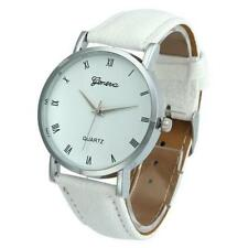 Ladies Fashion Silver Geneva Quartz White Faced White Band Wrist Watch.(Aussie)