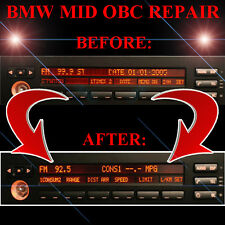 BMW E39 525 525i RADIO STEREO DISPLAY MID OBC - LCD Screen Display Pixel REPAIR