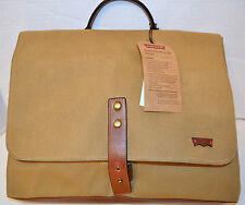 Levi's Valencia 3009C04 Backpack Khaki Bag Canvas w/Leather Straps MSRP$170 NWT