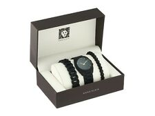 Anne Klein Watch * 1956BKST Black Resin Bracelet Gift Set Women COD PayPal