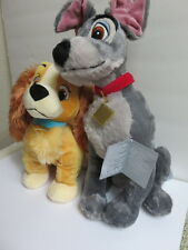 Disney Store Lady and the Tramp Plush Dog Set New Mint