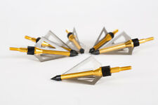 New 6pcs hunting arrow broadheads 100Grain 3 blade - Gold Color