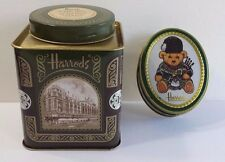 Harrods Tea and Candy Tin Empty Collectible Nice Condition England