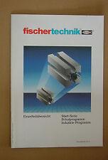 fischertechnik - Bebilderte Einzelteilübersicht 1990 -- Unbenutzt!
