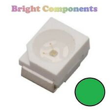 10 x Green PLCC-2 LED (SMD SMT 3528/1210) - Ultra Bright - UK - 1st CLASS POST