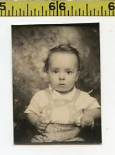 Vintage 1940's BOOTH photo / Baby Boy Wants Out of This Silly Outfit PHOTOBOOTH