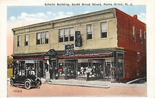 Postcard Schultz Building at South Broad Street in Penns Grove New Jersey~111454