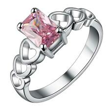 China Wholesale new 925 silver Pink Natural Crystal Fashion Rings holiday gift